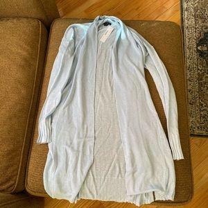 Brand New Open Cardigan Sweater in Linen Blend XXS